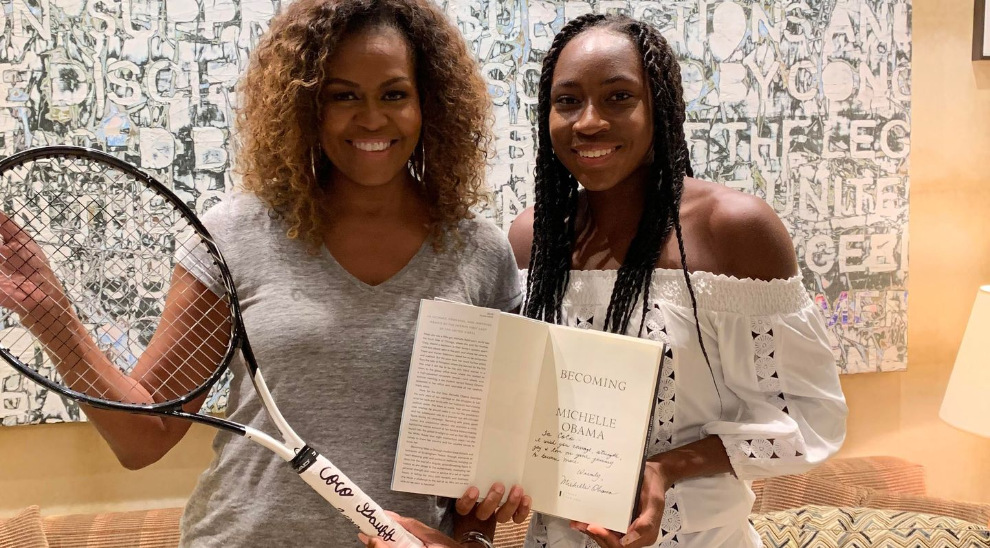 Coco Gauff meets 'inspiration' Michelle Obama