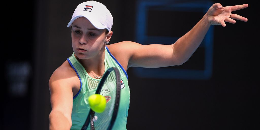 Barty races past Rybakina to reach fourth round in Melbourne