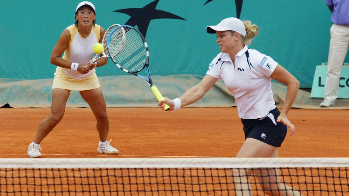 Ai Sugiyama and Kim Clijsters clinched the crown in 2003, and they doubled up by winning Wimbledon weeks later. They beat Ruano Pascual and Suarez in the final, making them the only team to defeat that pair at Roland Garros from 2001 through 2005.