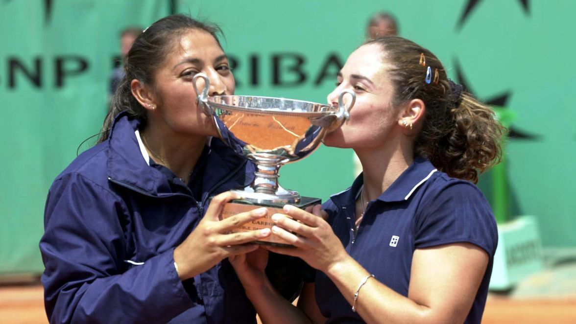 Paola Suarez and Virginia Ruano Pascual earned the title in 2001, which was the first Grand Slam women's doubles title for either player. Ruano Pascual also won her first mixed doubles Grand Slam title that same fortnight.
