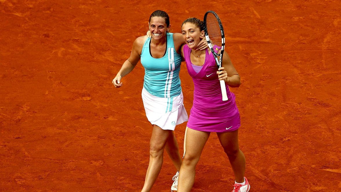 Roberta Vinci and Sara Errani won the title in 2012, which was the first of the five Grand Slam women's doubles titles the Italians would win together.