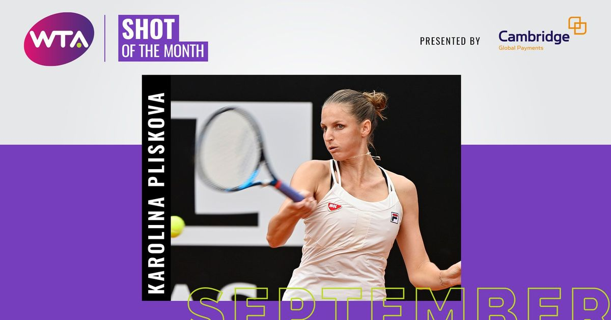 September 2020 Shot of the Month: Karolina Pliskova