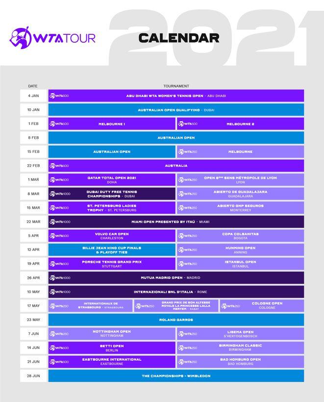 WTA announces provisional 2021 calendar into July_v2