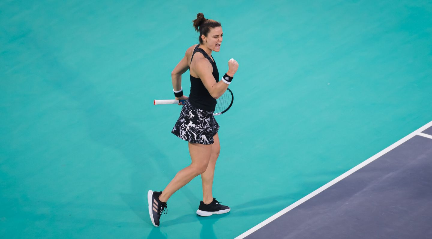 Sakkari ousts Gauff to make Abu Dhabi round of 16