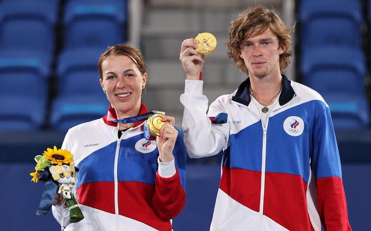 Anastasia Pavlyuchenkova and Andrey Rublev