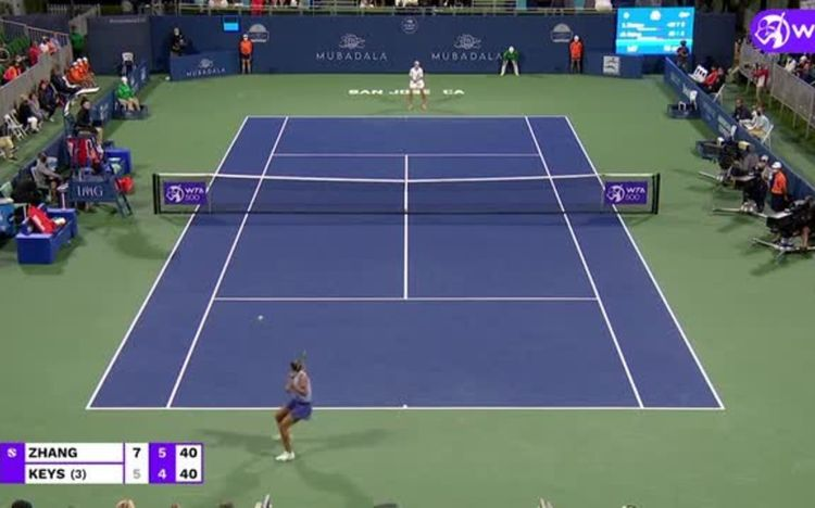 Zhang fends off Keys for QF berth in San Jose: Highlights