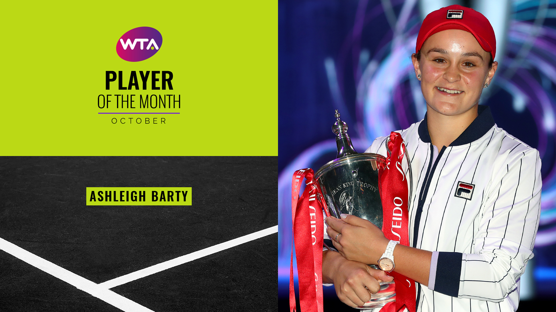 October 2019 Player of the Month: Ashleigh Barty